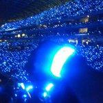 Esto son las luces que ven en la inauguracion del estadio de Futbol Monterrey. #EstadioBBVABancomer http://t.co/Rs6fb0Y51z