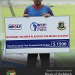 Bangladesh captain Mushfiqur Rahim awarded Player of the Match in 2nd Test. #BANvSA http://t.co/GHJWItzIHV