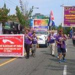 #VanCuba #Cuba #Solidarity marching in #Vancouver #Pride #VanPride #YVR #Cdnpoli #VivaCuba #CubaSi #CubaVa #2015 http://t.co/g9v5jBlDQg