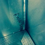 @SancadillaNorte estos pinches cholos ya empezaron a rayar los baños! #InauguracionRayada http://t.co/drpR9rNF8v