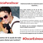 los invitamos a conocer la historia de Oscar y a su vez difundirlo. @TvAztecaMex @AztecaNoticias #OscarEsInocente http://t.co/FHnMJmF0Yv