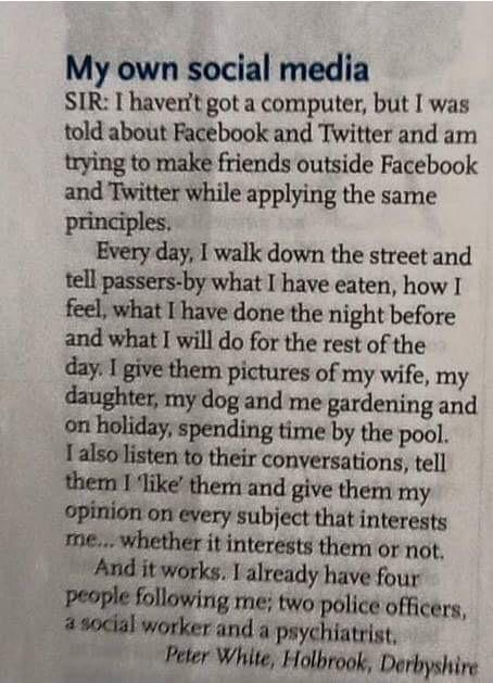 Social Media in real life - another take http://t.co/XbOEZJcPEN