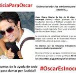 ¡Ánimo Óscar! Somos muchos los que queremos que pronto leas esto. Compartan. #JusticiaParaOscar http://t.co/3YSVfJwmac