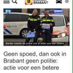 Geen spoed, dan ook in Brabant geen #politie #caopolitie http://t.co/Q94IvBhVBm http://t.co/7aA8MfRsVz