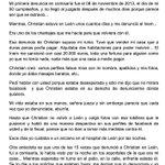 El 11-Julio Sara se tiro x la ventana tras 2 años de acoso x parte d su ex pareja.Esta es la carta q dejo a la jueza http://t.co/hpDKqMKeLW