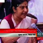 Sushma Swaraj speaks up in RS; says never taken help from British govt @SushmaSwaraj VIDEO: http://t.co/RAMxFtIS8j http://t.co/DLoimHiLbg