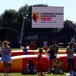 What a day @WatfordFC Open day 2015 was! Thanks to everyone who came to see the Trust. #watfordfc #watfordfamily http://t.co/vbNGcxtlRo