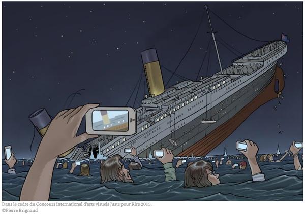 Le titanic version 2015 excellent dessin de pierre brignaud pour le concours canadien juste - Dessin du titanic ...