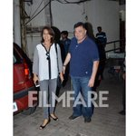 In pictures:  @chintskap and Neetu Kapoor clicked outside a suburban theatre.  http://t.co/tO5FfTxR2Z