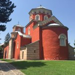 View of the Zica Monastery in Serbia on a sunny day. #MySerbia http://t.co/U70PnwjPZM