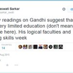 Last Weak, where Saswati Sarkar wrote about the Week Writing skills of Gandhi http://t.co/nyiFHK4nRa