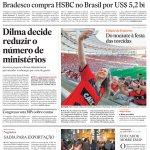 Capa do dia: Dilma decide reduzir ministérios para dar sinal de austeridade http://t.co/tv9EVDRDiv http://t.co/W0CFnrfyoI