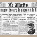 Le 3 août 1914, lAllemagne déclare la guerre à la France. Cest le début de la Grande Guerre. http://t.co/5Spryjntar
