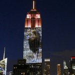 Images of Cecil the lion and endangered species projected onto Empire State Building http://t.co/07ix8EkCE3 http://t.co/LVJuJT0MsB