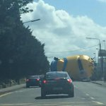 Not Birmingham - A giant minion has escaped and is currently blocking a road in Dublin ???? http://t.co/ahsnNI5gt5