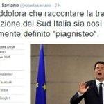 Esplode la polemica sul Sud Italia tra Renzi e Saviano. Voi da che parte state? http://t.co/vW6ic4cj3M http://t.co/n48PkNXBmE