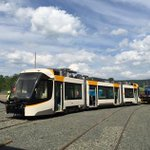 .@Cincy_Streetcar unit 2 (of 5) moved off the assembly line this weekend in Elmira, N.Y.! @WCPO http://t.co/dZrxkaYQeL