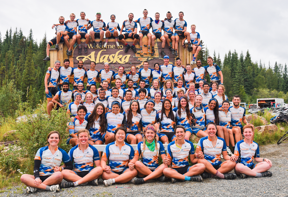 #T4K2015 crossed the AK state line yesterday! Looking pretty sharp at the sign! #t4ksierra #t4krockies #t4kozarks http://t.co/Xnoov5KZ6P