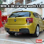 RT to enter! #WIN A @3M CAR WRAP WORTH £3,000 Give your motor a new lease of life! #comp http://t.co/Gs0ncDuJfl http://t.co/xUYUCy7zxF