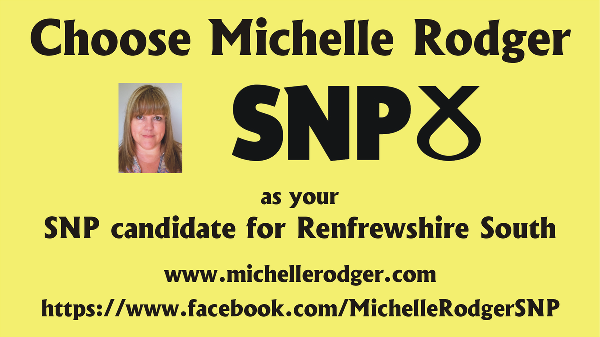 Delighted to have been nominated for selection as @theSNP candidate for #RenfrewshireSouth http://t.co/IwXKr2bFGm