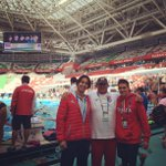 Couple of Michigan alums at #Kazan2015: @mlgoco (ESP), @FernCanales13 and @rFunk08 (CAN). #goblue http://t.co/zp41OPqLIG