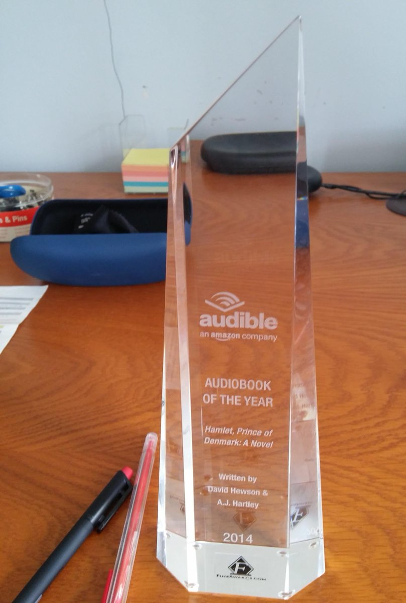 Many thanks to those fine folk at Audible, @authorajhartley and @RCArmitage for this splendid award http://t.co/ZAGaXUownV