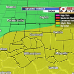 "The SPC updates our ""slight risk"" area for the day but much of the area is still included. @wcpo #CincyWx http://t.co/drP4F87R5u"