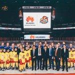 Näin komeasti alkoi #Jokerit, @JokeritRy ja @HuaweiSuomi yhteistyö! #KHLfi http://t.co/Hq5Mary5tH