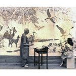 Mural Monday (1 of 2): In the early 1940s, artist J. Clinton Shepherd, wearing paint-stain… http://t.co/bSer3VZ6vk http://t.co/qycIp0GfjN