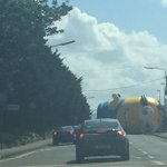 A giant inflatable Minion flew loose and caused traffic havoc in Santry this afternoon: http://t.co/IjQ5TDdJpC http://t.co/MQbp2xH6zl
