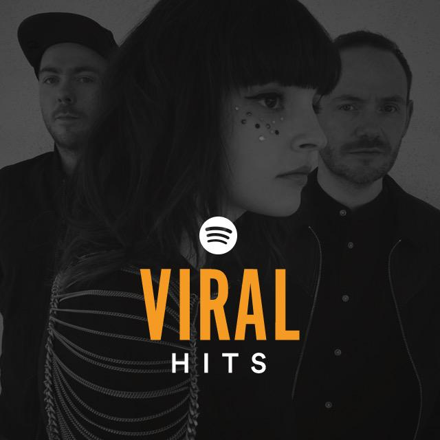 .@CHVRCHES looks great on the cover of @Spotify's Viral Hits playlist! Listen & follow here: https://t.co/B3r1CUv5l4 http://t.co/J7muYIuJWm