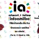 [Concours] Follow @NintendoActu et @infoamiibo + RT pour gagner un amiibo au choix ! Fin le 13 Août. http://t.co/Kuy8cDGLFJ