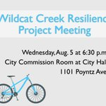 Manhattan Cycling Community: Join us for the Wildcat Creek Resiliency Project Meeting this Wednesday. #MHK http://t.co/p7iARPruEw