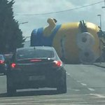 News Flash: A giant inflatable Minion escapes. Causes road chaos in Dublin. http://t.co/psxnxkmaRt http://t.co/rGCmtscetx