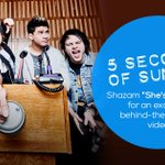 Digging @5SOSs new #ShesKindaHotMusicVideo? Unlock an EXCLUSIVE behind-the-scenes video when you #Shazam the song. http://t.co/7M4vaYw1lS