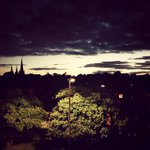Love the atmospheric view I get from my bedroom window... #Lichfield http://t.co/vMJjWEVRQa