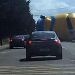 A giant 40ft minion rolled down a street in Dublin today causing traffic delays... http://t.co/enbOsiDwMr http://t.co/CMVFUXxDlg
