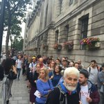 This is the queue for Jeremy Corbyns rally tonight in central London. Four deep, round the block http://t.co/TXAVcBrFlH