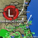 A misty Monday. A tropical low and heavier rain marches north! Your #DailyDowpour update @FCN2go http://t.co/vGzsCZC1u6