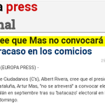 """A.Rivera (maig15):""""Mas no convocará el #27S""""http://t.co/eG0ICsnv7r Una altra gran predicció electoral de @Colonos_Cs http://t.co/igVJ76tQWX"""