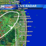 Dry so far but this outflow boundary (circle) moving southeast may spark new storms http://t.co/RdIN4lLPkO http://t.co/noKsxvr7i3