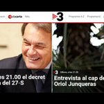 Tras el masaje de TV3 a Artur Mas, entrevista al jefe de la oposición para compensar. RT si te descojonas vivo. http://t.co/JVMdPw8qn9