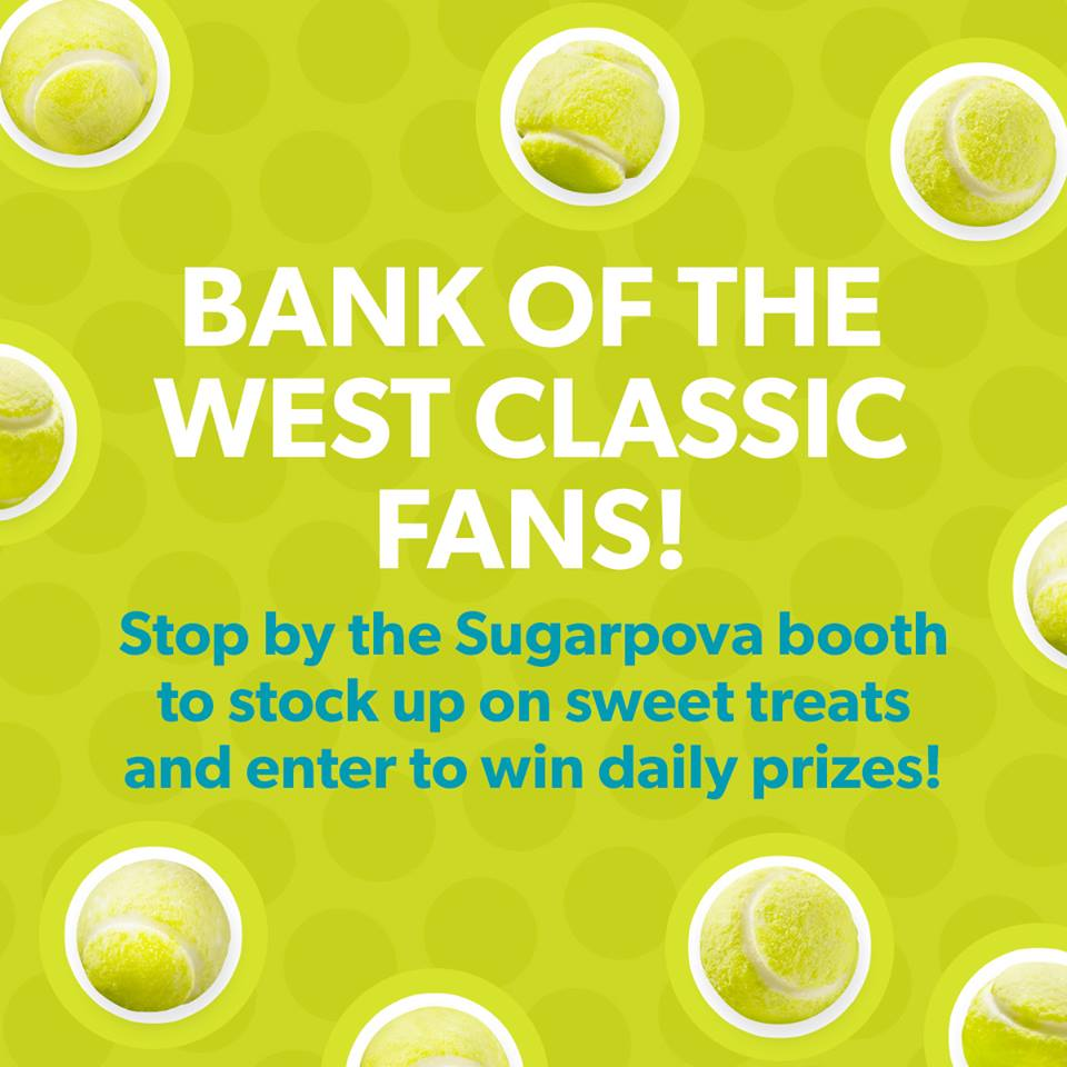 RT @Sugarpova: The Bank of the West Classic is going on this week in Stanford -- come see us! #BOTWClassic #tennis http://t.co/gztmF3b8i7