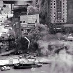 A warehouse fire at the south bank of the #Chicago River east of the Michigan Avenue bridge. #ChicagoHistory http://t.co/9A9CzPiWo9