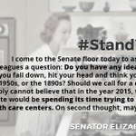 We agree with @SenWarren - we are not going back in time. #StandWithPP #S1881 http://t.co/3ZPSG8vfHs
