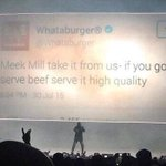 Drake, the 6 God, shows a @Whataburger tweet during his show. Call the fight. Its over. http://t.co/QvTqicEi6z