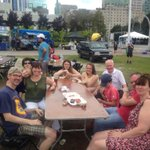 This family is all the way from Glasgow, Scotland and are loving @CapitalRibfest ! #TheBigSticky #Ottawa #BBQ http://t.co/740TFLhgX1