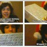 E come dimenticare quando Brianza mostrò il regalo per Louis,happy days *piange* #OhWaitItWasHarry http://t.co/IjLQw00rhy