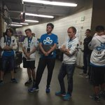 Cloud9 and CDEC before getting in their booth #TI5 http://t.co/4PlGcekFuO