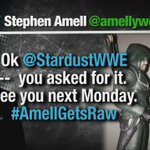 Its ON!!! @AmellyWood @StardustWWE #RAW @CW_Arrow http://t.co/gJABR7PNyu
